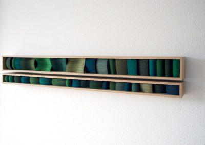 Julia Gardiner, Little Greenlands, 1000 x 160 x 80 mm, 2010, Private Collection
