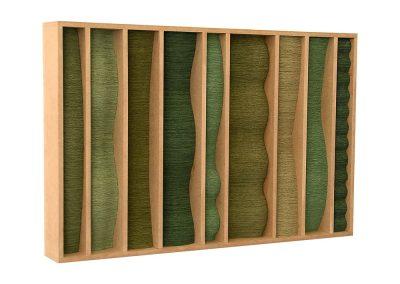 Julia Gardiner, Nine Pillars, 600 x 400 x 60 mm, 2005, Public Collection