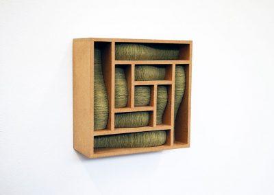 Julia Gardiner, Thrum 1, 200 x 200 x 80 mm, 2009, Private Collection