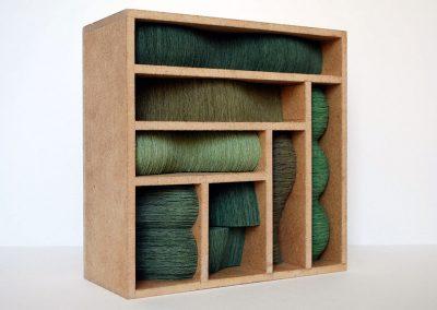 Julia Gardiner, Thrum 2, 200 x 200 x 80 mm, 2009, Private Collection
