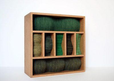 Julia Gardiner, Thrum 3, 200 x 200 x 80 mm, 2009, Private Collection