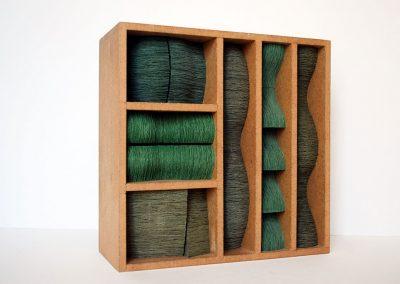 Julia Gardiner, Thrum 4, 200 x 200 x 80 mm, 2009, Private Collection