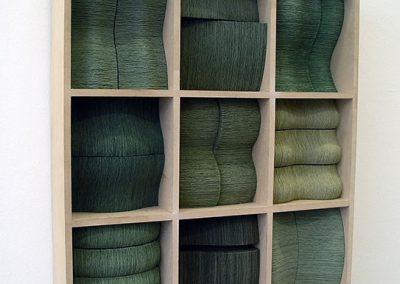Julia Gardiner, Dunes, 520 x 460 x 90 mm, 2007, Private Collection