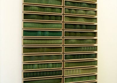 Greenlands (early version), 32 units each 60 x 400 x 80 mm, 2005