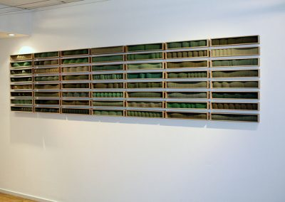 Greenlands, 56 units each 60 x 400 x 80 mm, 2005, Private Collection