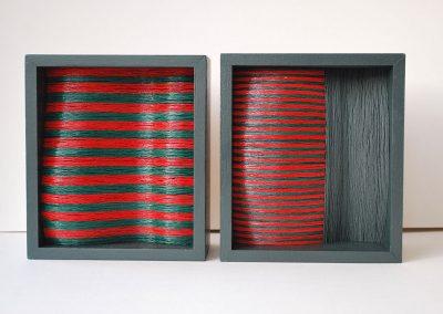Green Red, 2 units each 140 x 160 x 74 mm, 2014