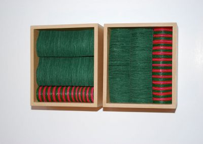 Green Red Pink, 2 units each 140 x 120 x 80 mm, 2011, Private Collection