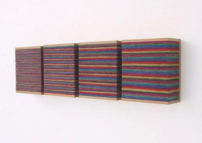 Rainbow, 4 units each 120 x 140 x 70 mm, 2003