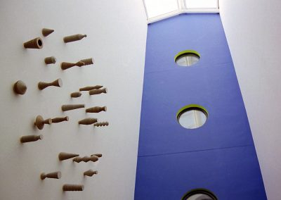 Vessels (installation 1), 22 units between 100 & 300 mm high, 2002