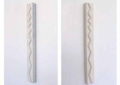 Julia Gardiner, Swerve (version 1), 900 x 100 x 30 mm, 2004, Private Collection
