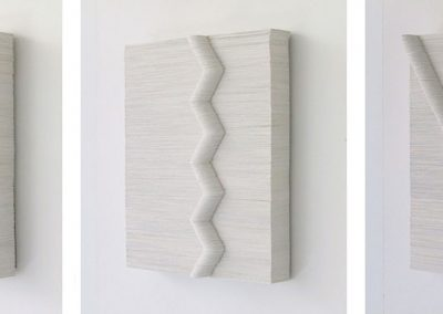 Julia Gardiner, White Seam 4, 5 & 6 each 250 x 200 x 36 mm, 2002